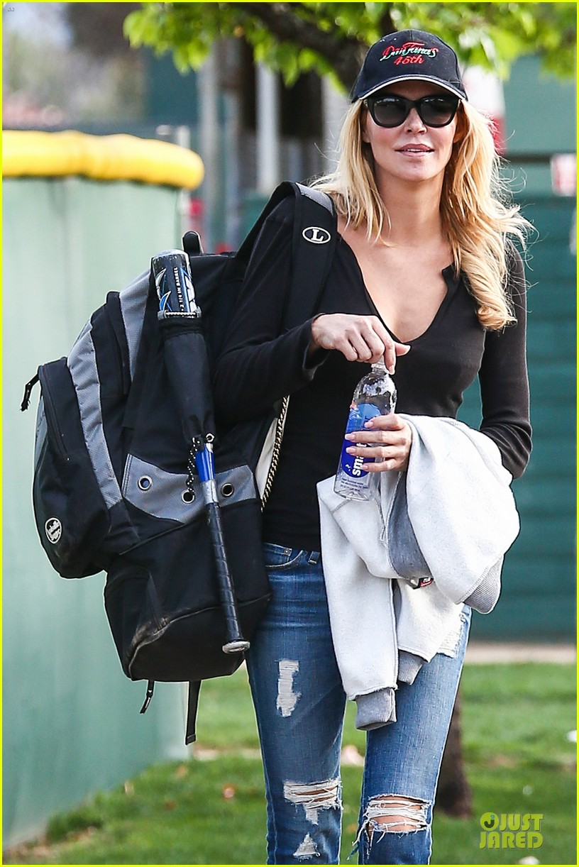 leann rimes eddie cibrian jake baseball game with brandi glanville 312824646