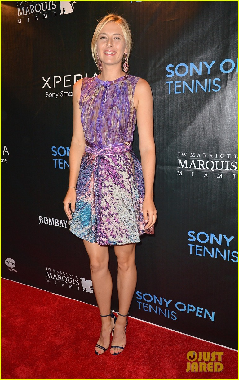 maria sharapova novak djokovic sony open player party 122834595