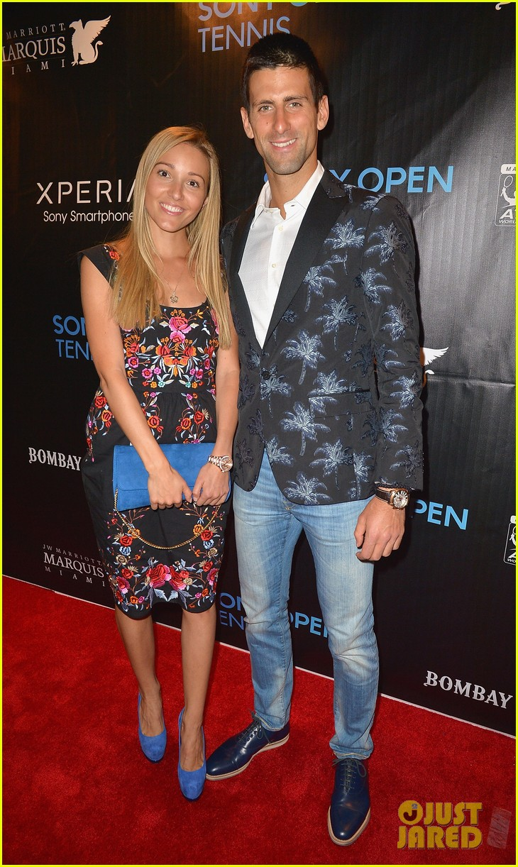 maria sharapova novak djokovic sony open player party 162834599