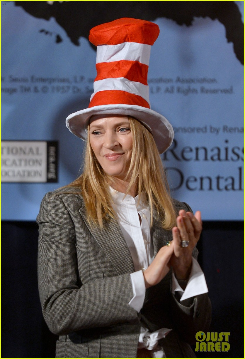 uma thurman cat in the hat for read across america day 02