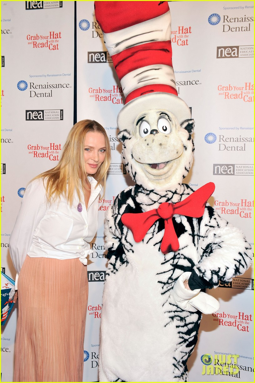 uma thurman cat in the hat for read across america day 122823507