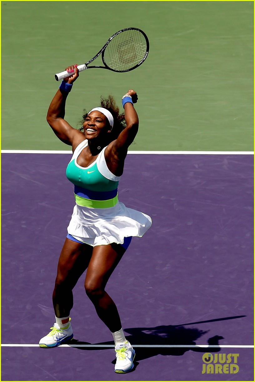 serena williams sony open victory portraits 06