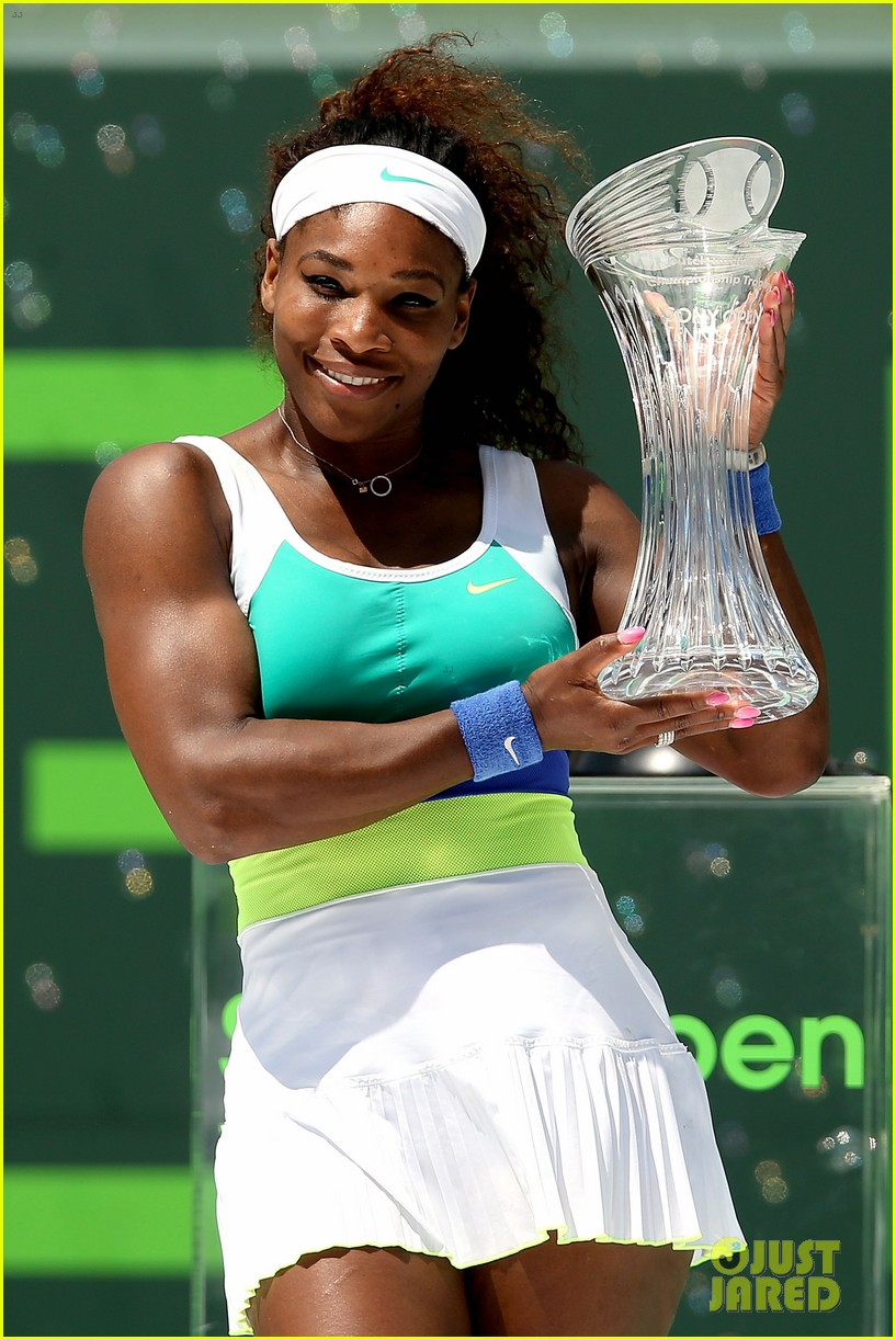 serena williams sony open victory portraits 11