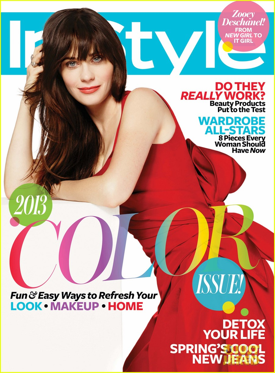 zooey deschanel covers instyle april 2013 012829382