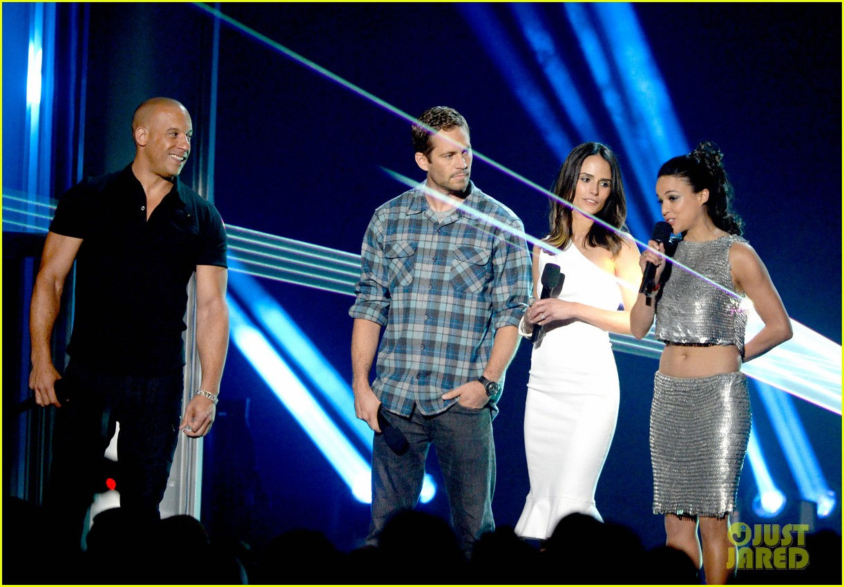 Vin Diesel, Paul Walker & Jordana Brewster - MTV Movie Awards 2013