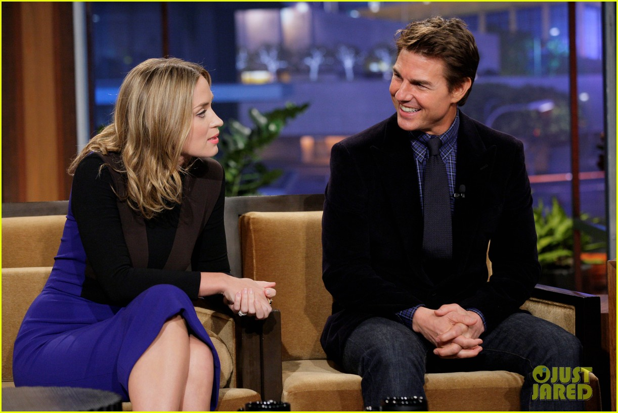 tom cruise emily blunt jay leno appearances 032857593