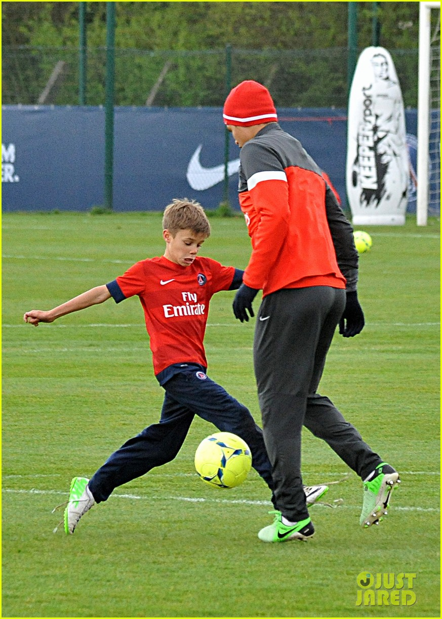 david beckham soccer camp with his sons 12