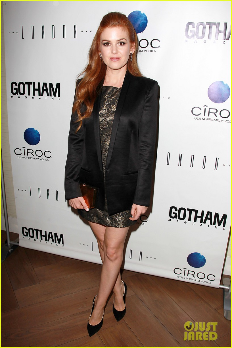isla fisher gotham magazine cover party 12
