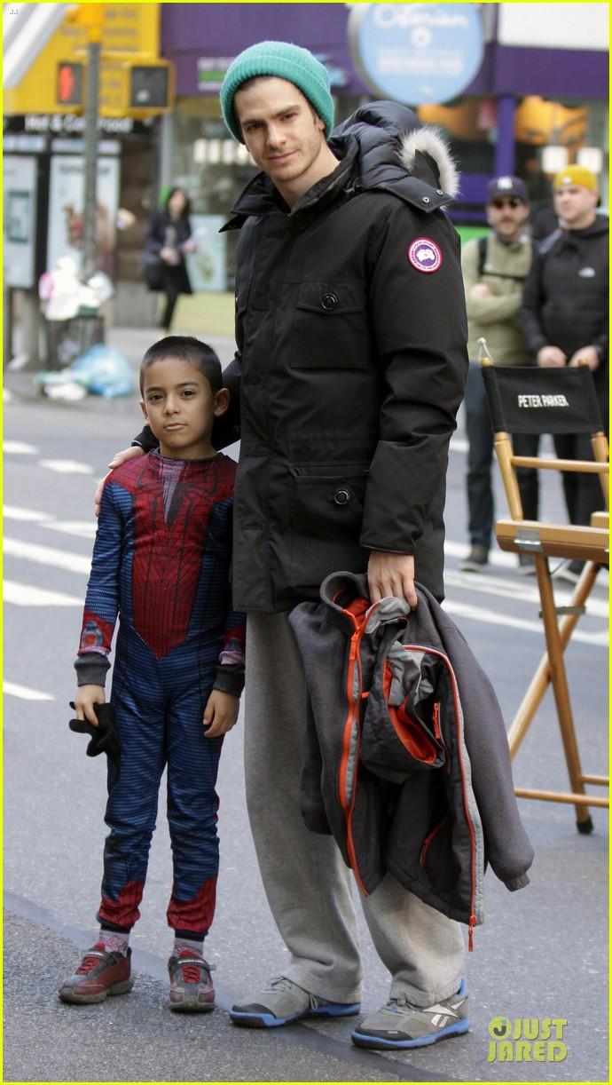 andrew garfield jamie foxx amazing spiderman filming duo 03