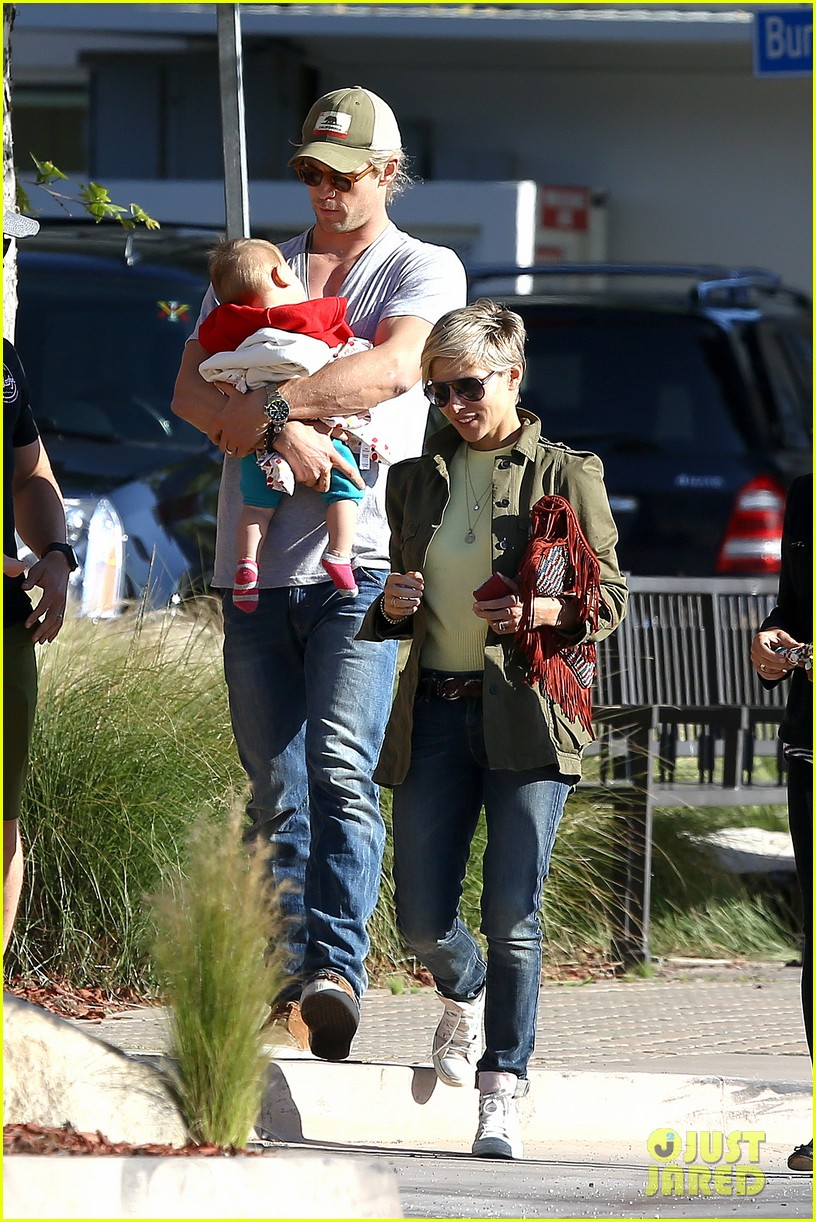 chris hemsworth elsa pataky lunchtime with india 15