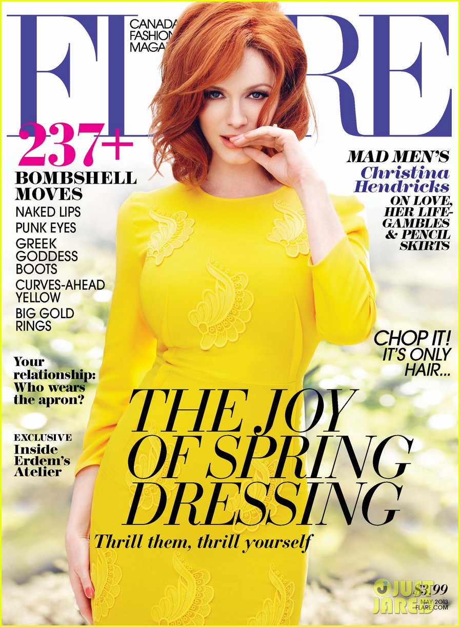 christina hendricks covers flare may 2013 012843381