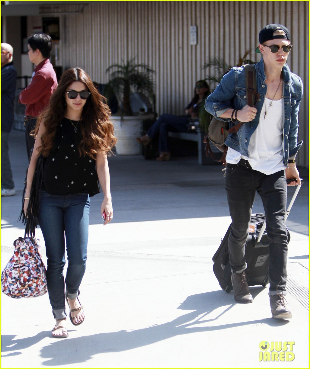 vanessa hudgens austin butler take flight in burbank 162859711
