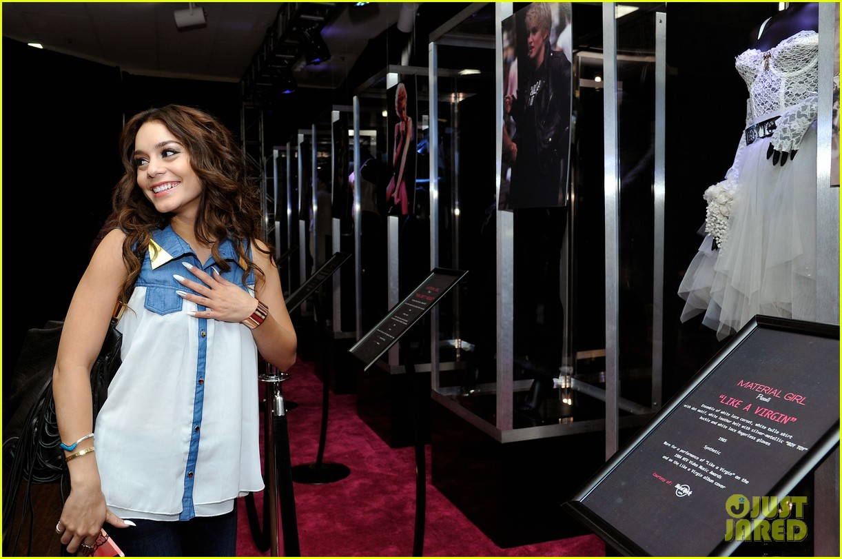 vanessa hudgens scopes madonna costumes at material girl event 06