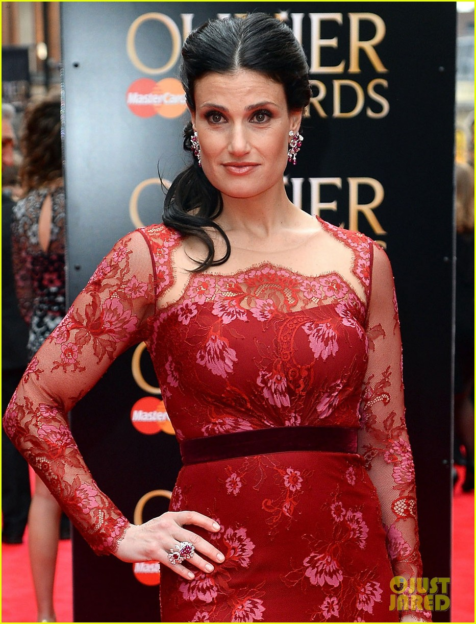 idina menzel 2013 olivier awards red carpet performance 03