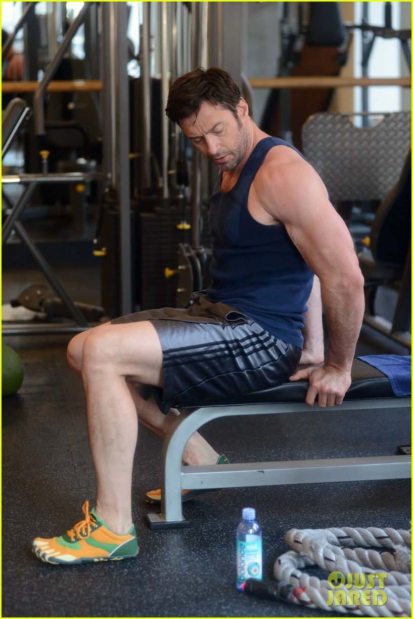 hugh jackman bulging bicep workout 222847043