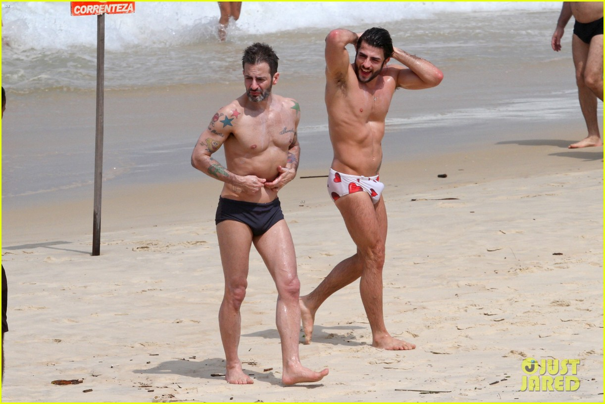 marc jacobs harry louis shirtless speedo pda in rio 042845396