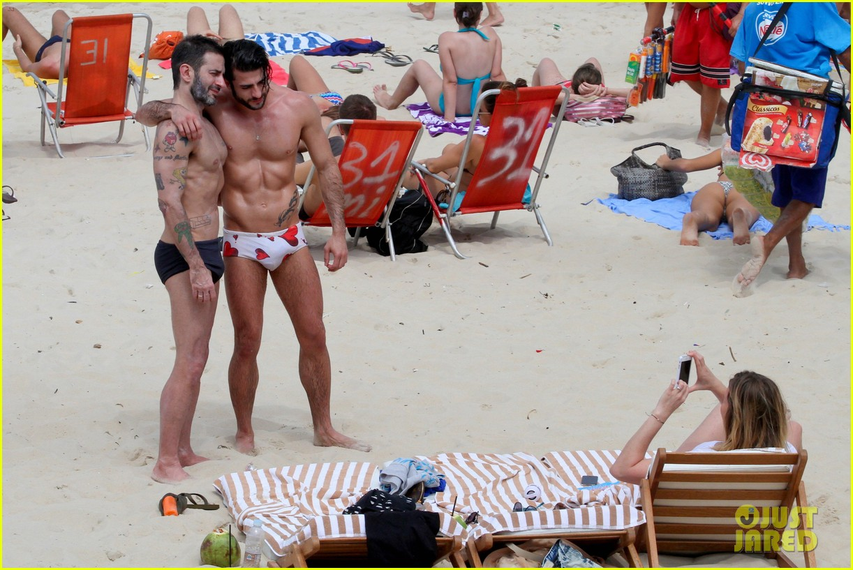 marc jacobs harry louis shirtless speedo pda in rio 05