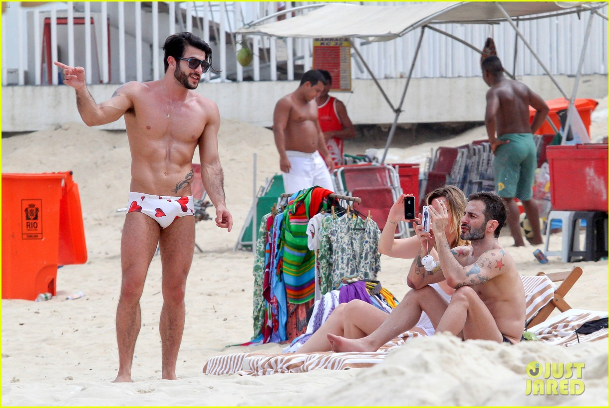 marc jacobs harry louis shirtless speedo pda in rio 132845405