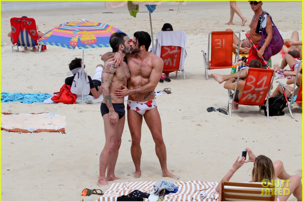 marc jacobs harry louis shirtless speedo pda in rio 152845407