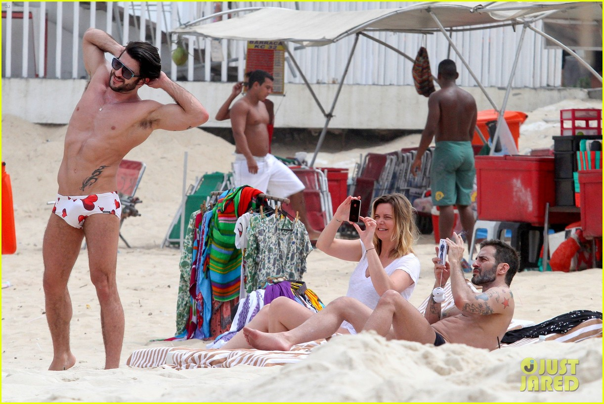 marc jacobs harry louis shirtless speedo pda in rio 162845408