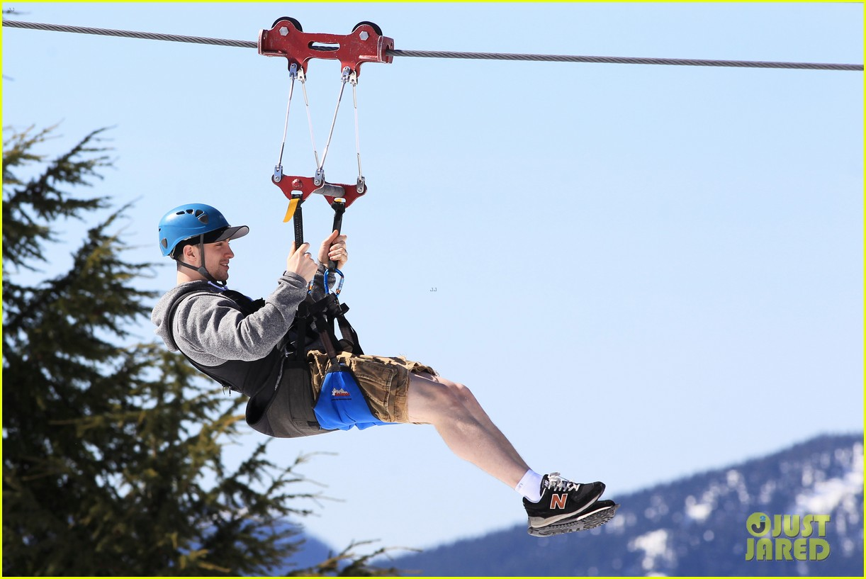 aaron taylor johnson wife sam easter ziplining 302841522