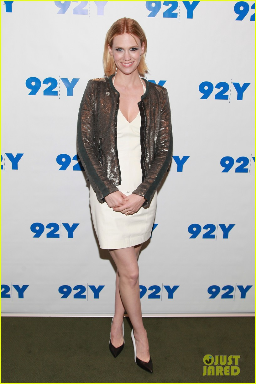 january jones jessica pare 92y talk with matthew weiner 05