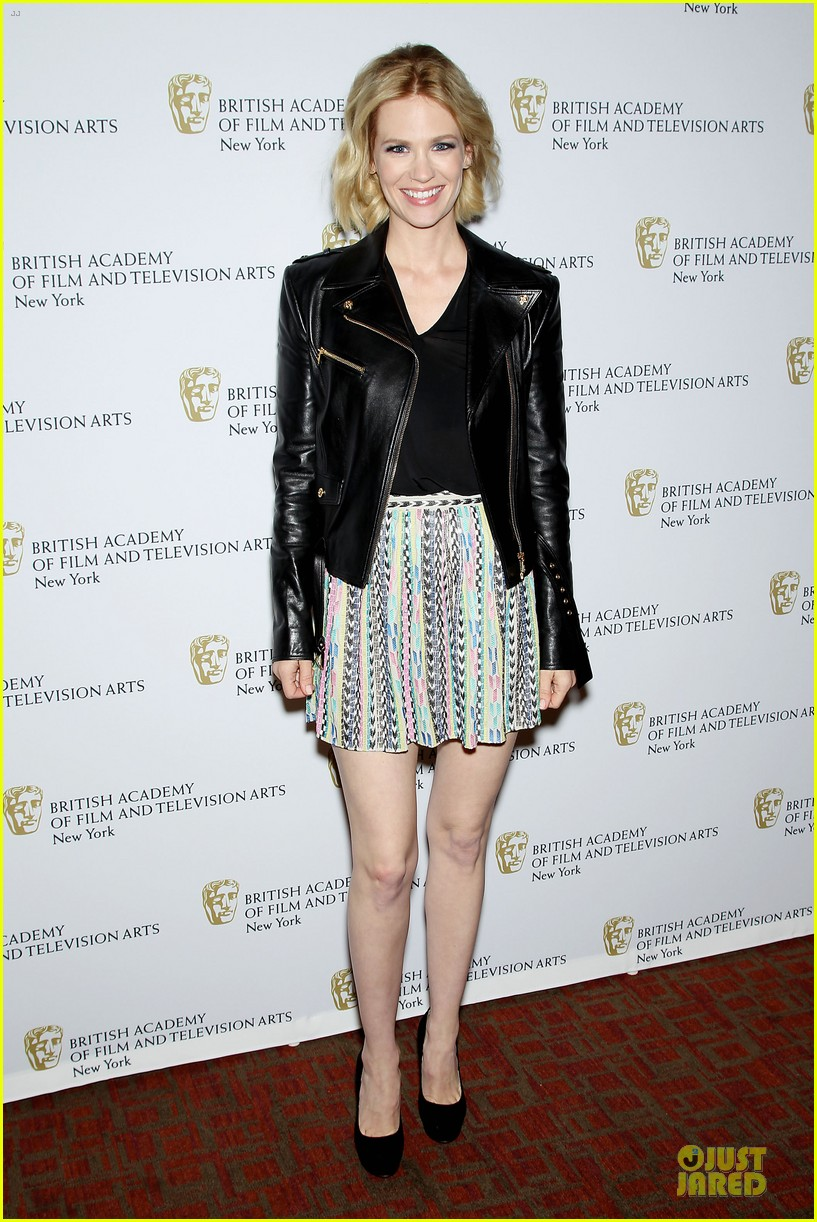 january jones christina hendricks bafta mad men panel 062856087