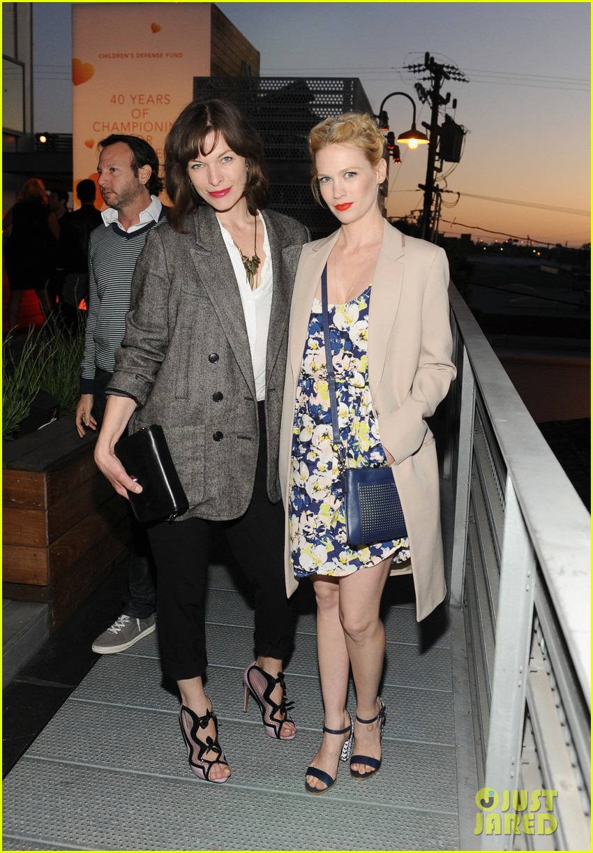january jones milla jovovich coach evening of cocktails 092847360