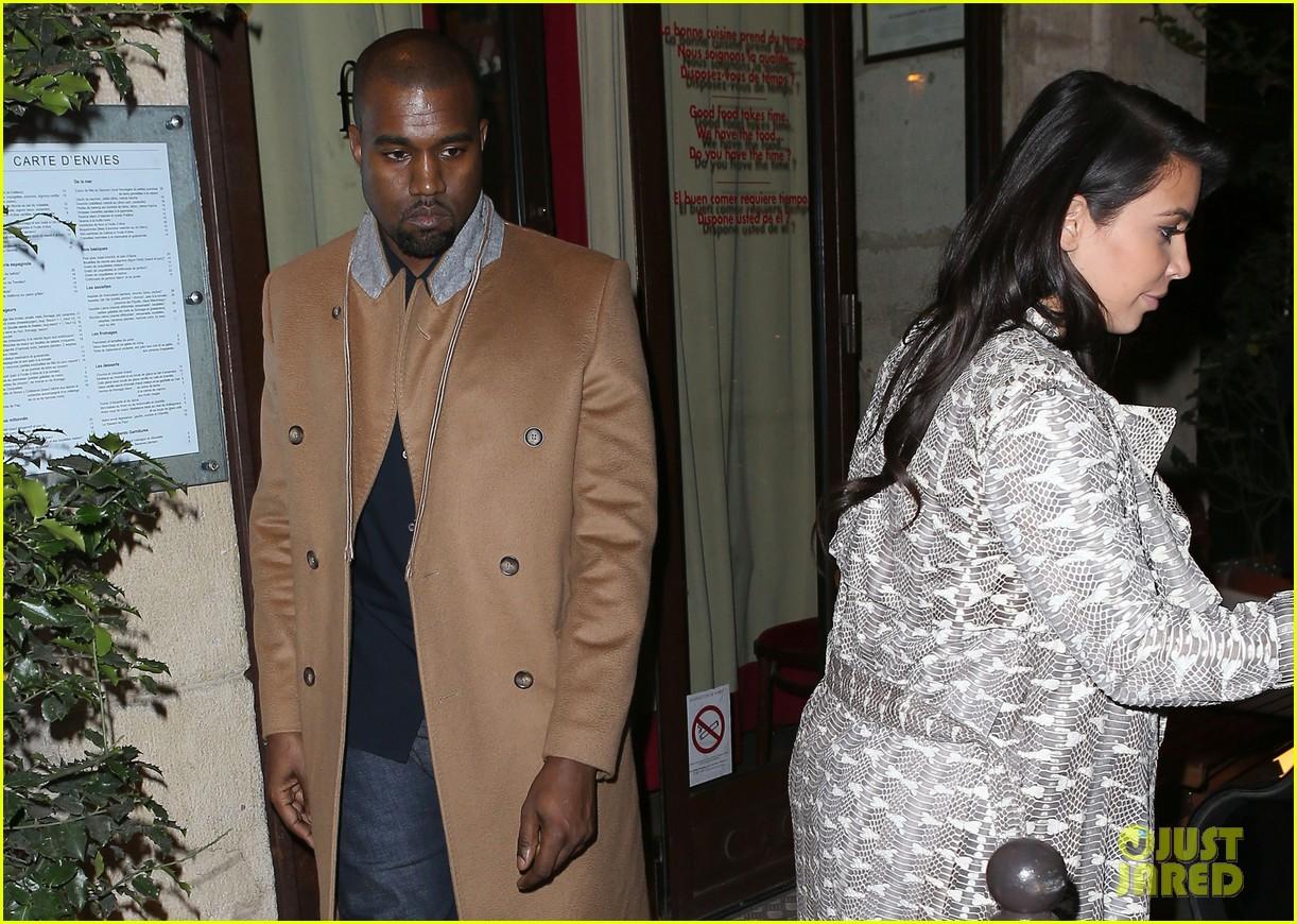 kim kardashian pregnant paris getaway with kanye west 12