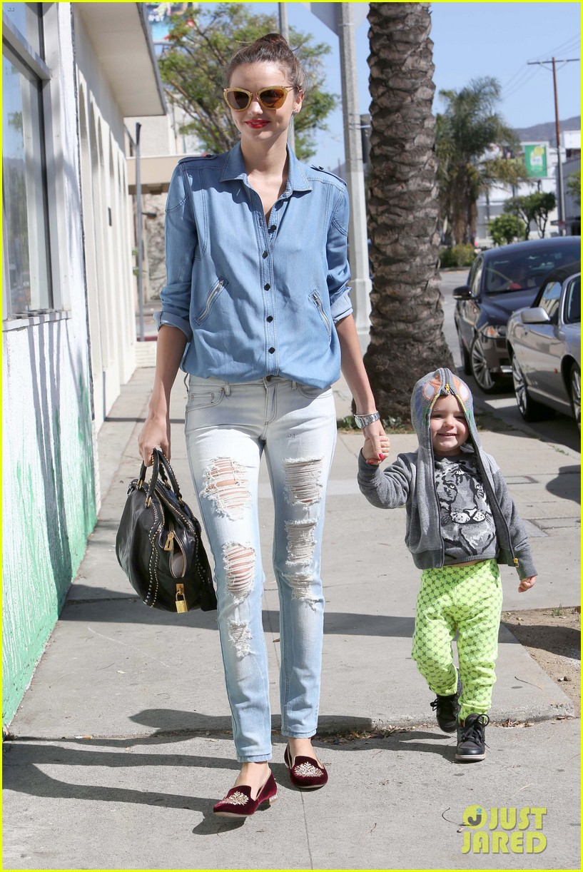 miranda kerr flynn romp around at kids gym 152845577
