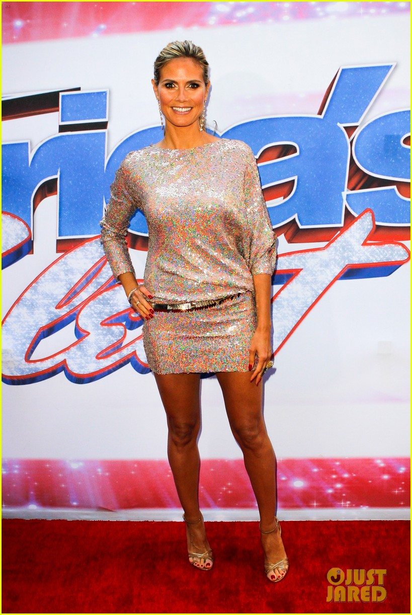 heidi klum mel b americas got talent in new york 10