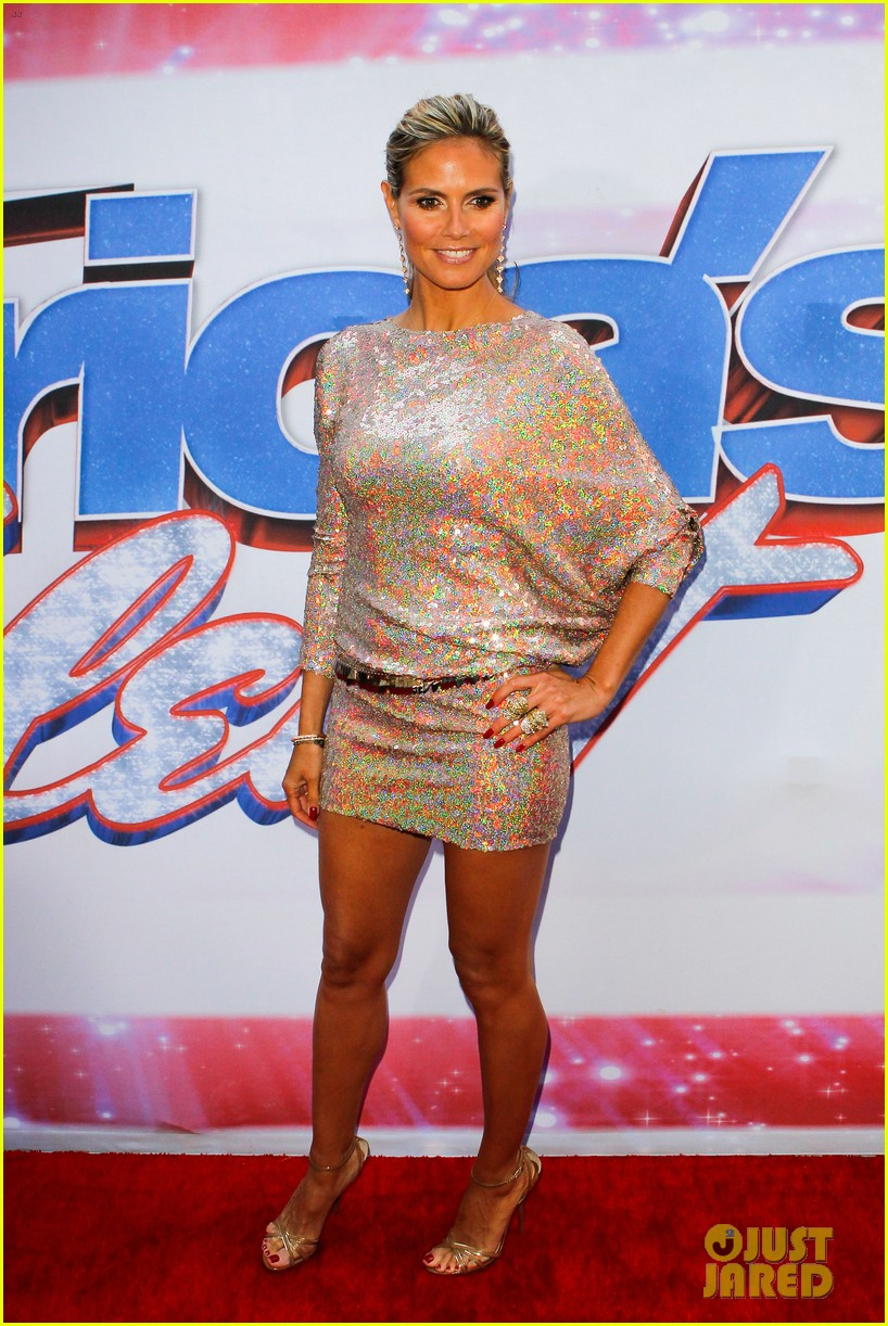 heidi klum mel b americas got talent in new york 11