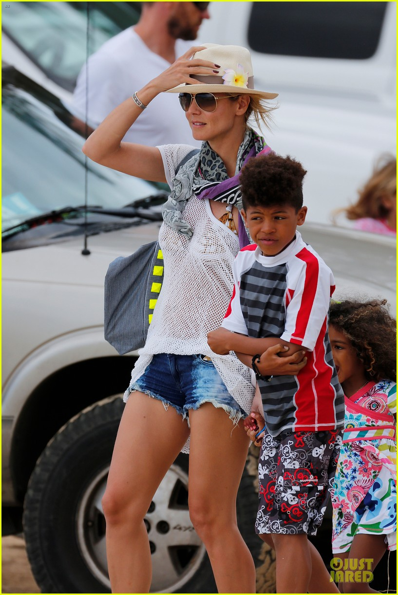 heidi klum family back in l a after hawaii drowning save 34