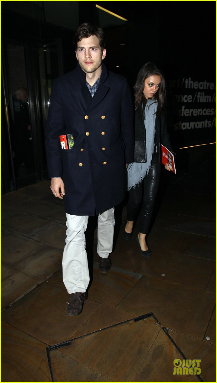 milia kunis ashton kutcher holding hands in london 052848466
