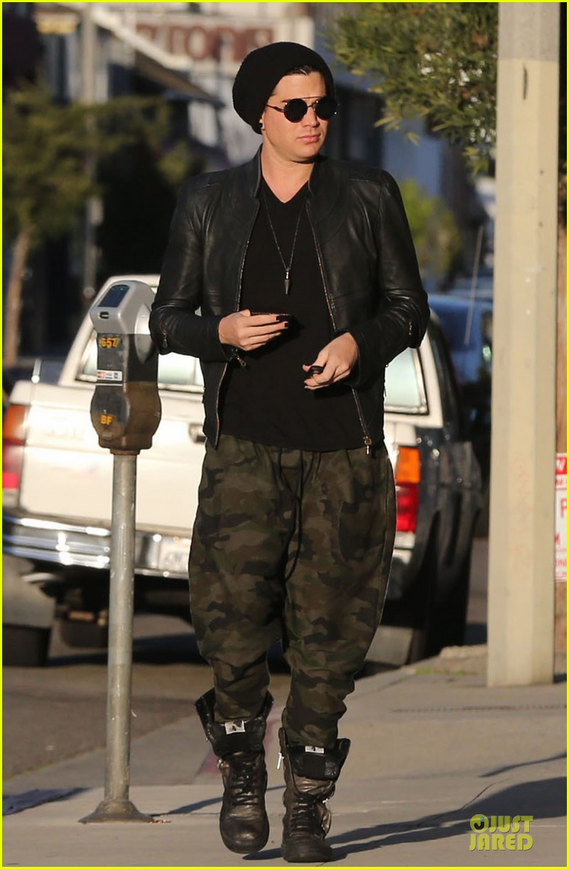 adam lambert camouflaged pants meeting 14