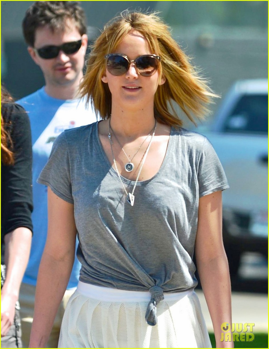 jennifer lawrence sheer skirt short hair for sunday lunch 042855651