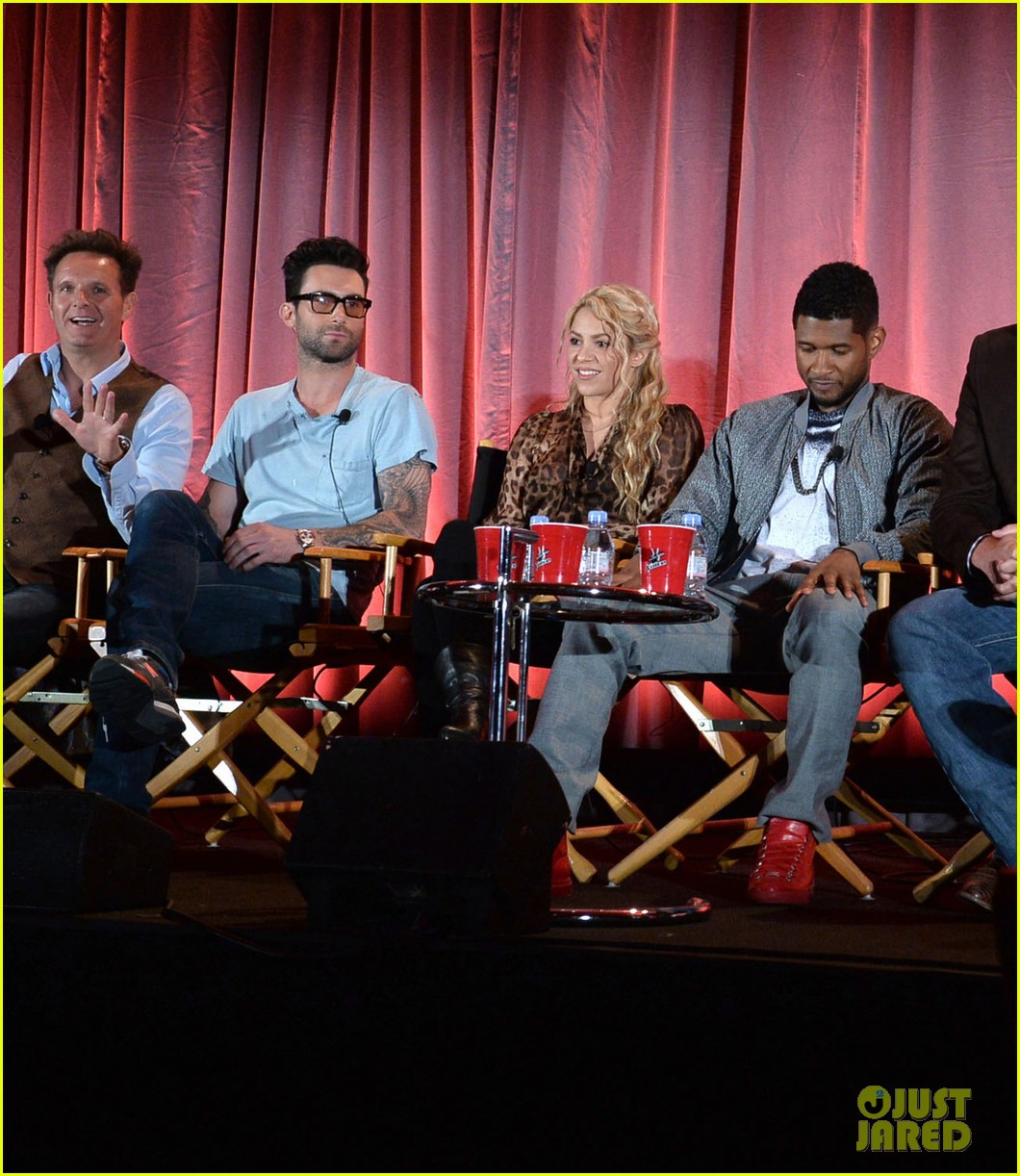 adam levine shakira the voice nbc summer press day 01