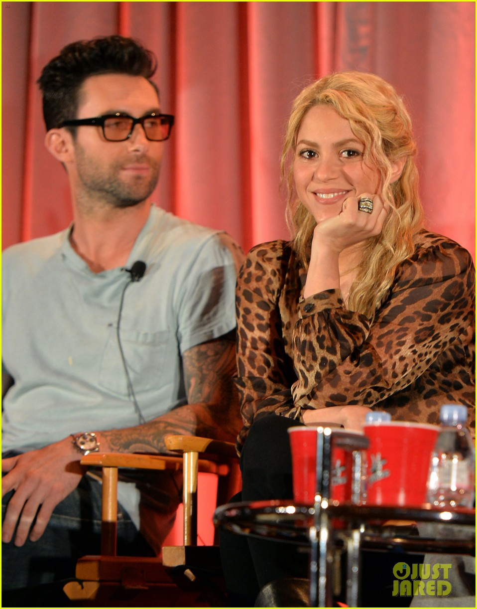 adam levine shakira the voice nbc summer press day 022856350