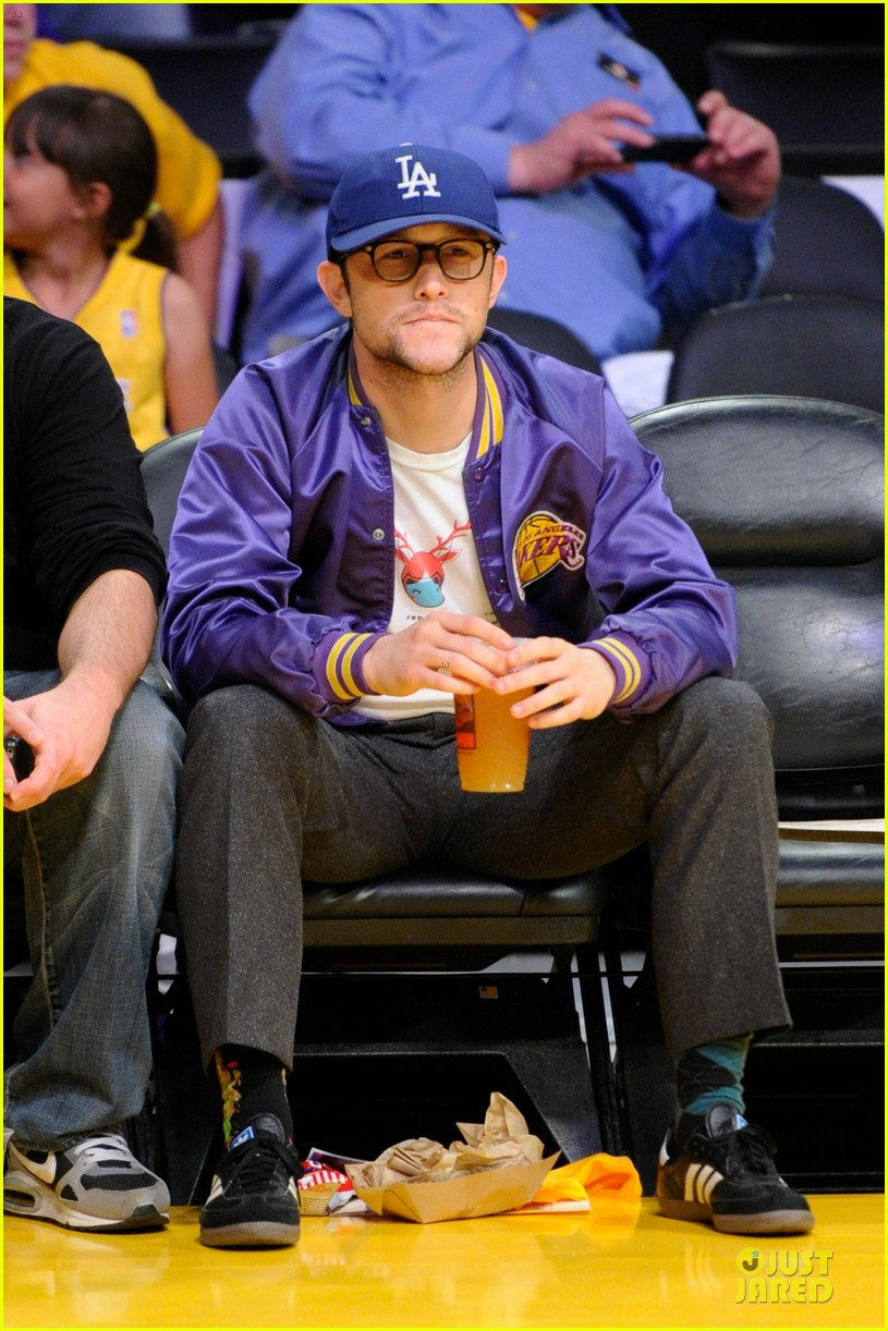 joseph gordon levitt los angeles lakers playoff game 012859147