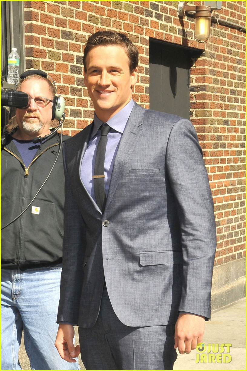 ryan lochte late show with david letterman visit 082856346
