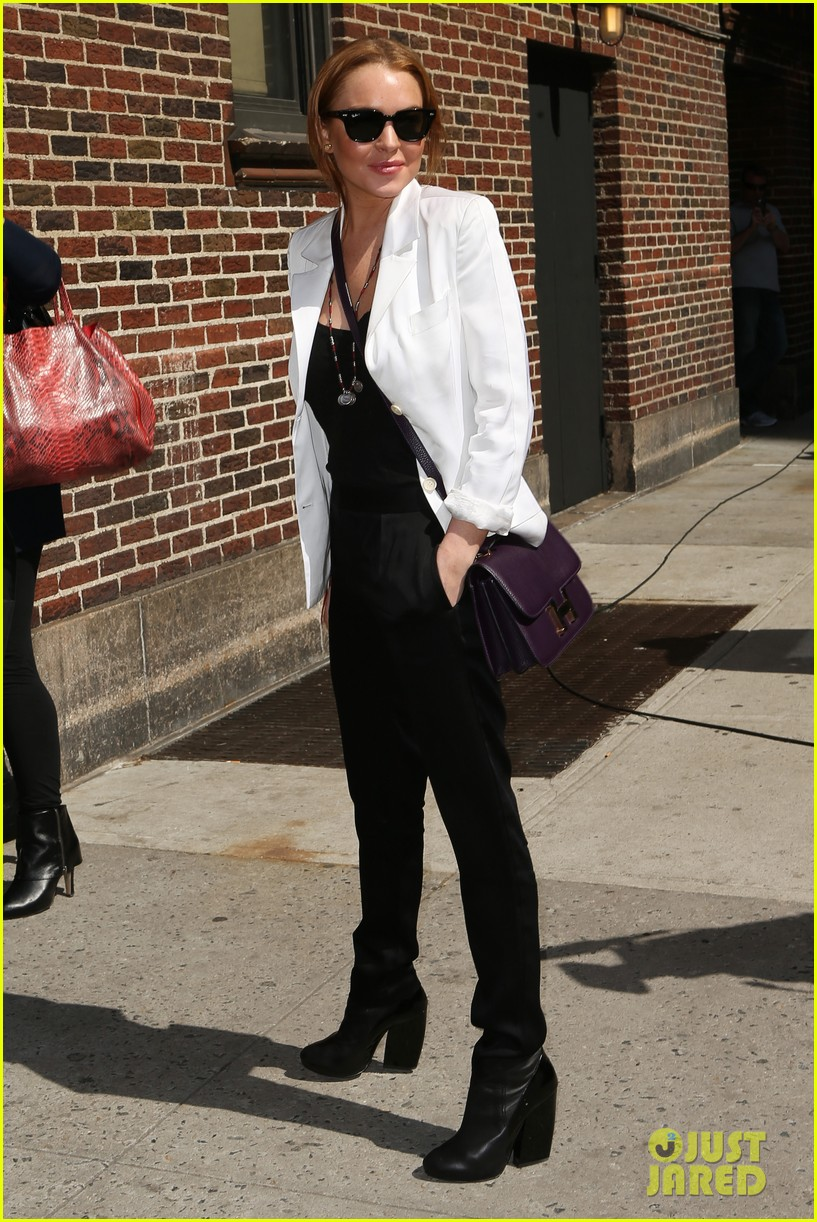lindsay lohan david letterman appearance tonight 05