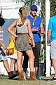 kellan lutz shirtless clothes change at coachella 12