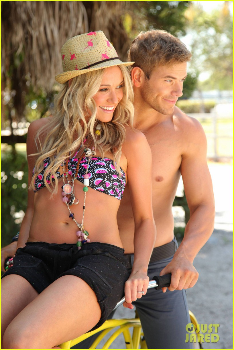 kellan lutz shirtless op campaign with bikini katrina bowden 09