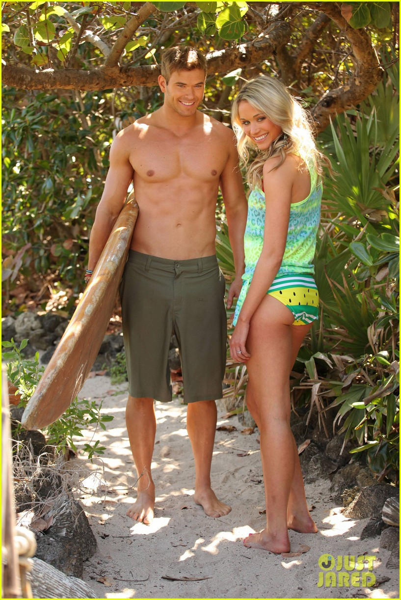 kellan lutz shirtless op campaign with bikini katrina bowden 13