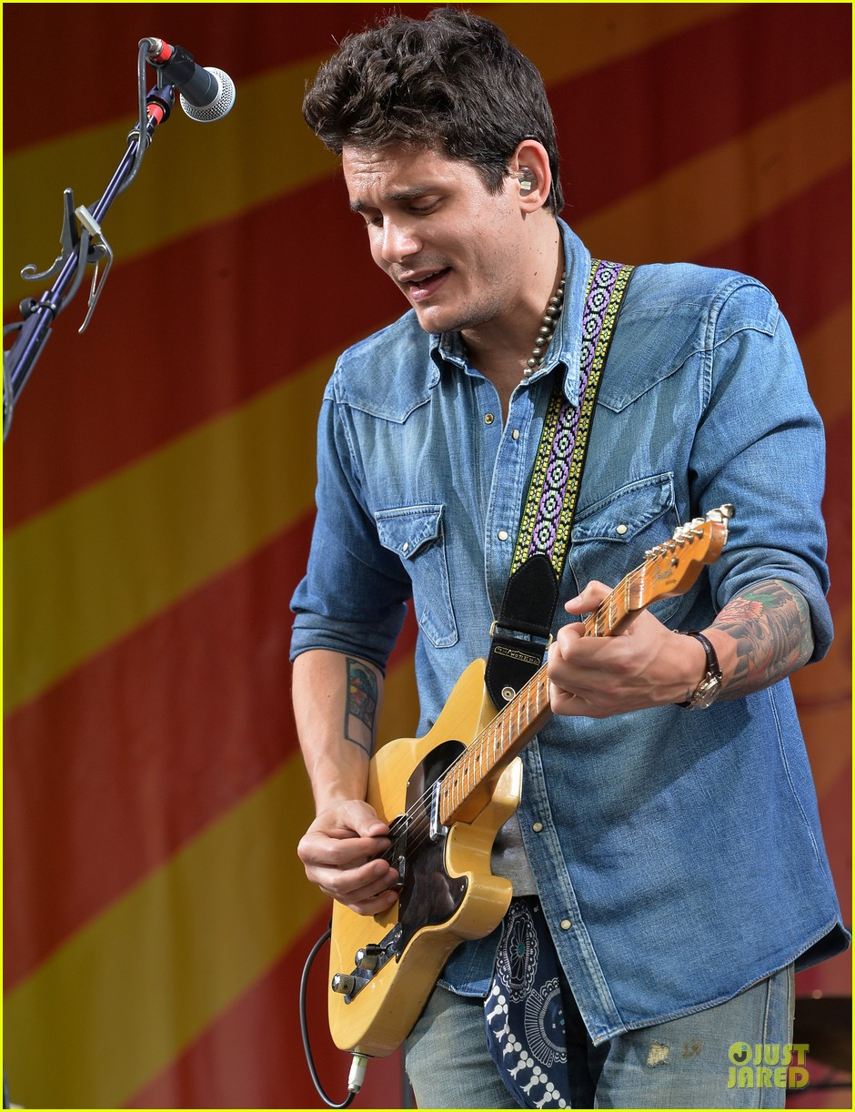 john mayer new orleans jazz heritage music festival 242859264