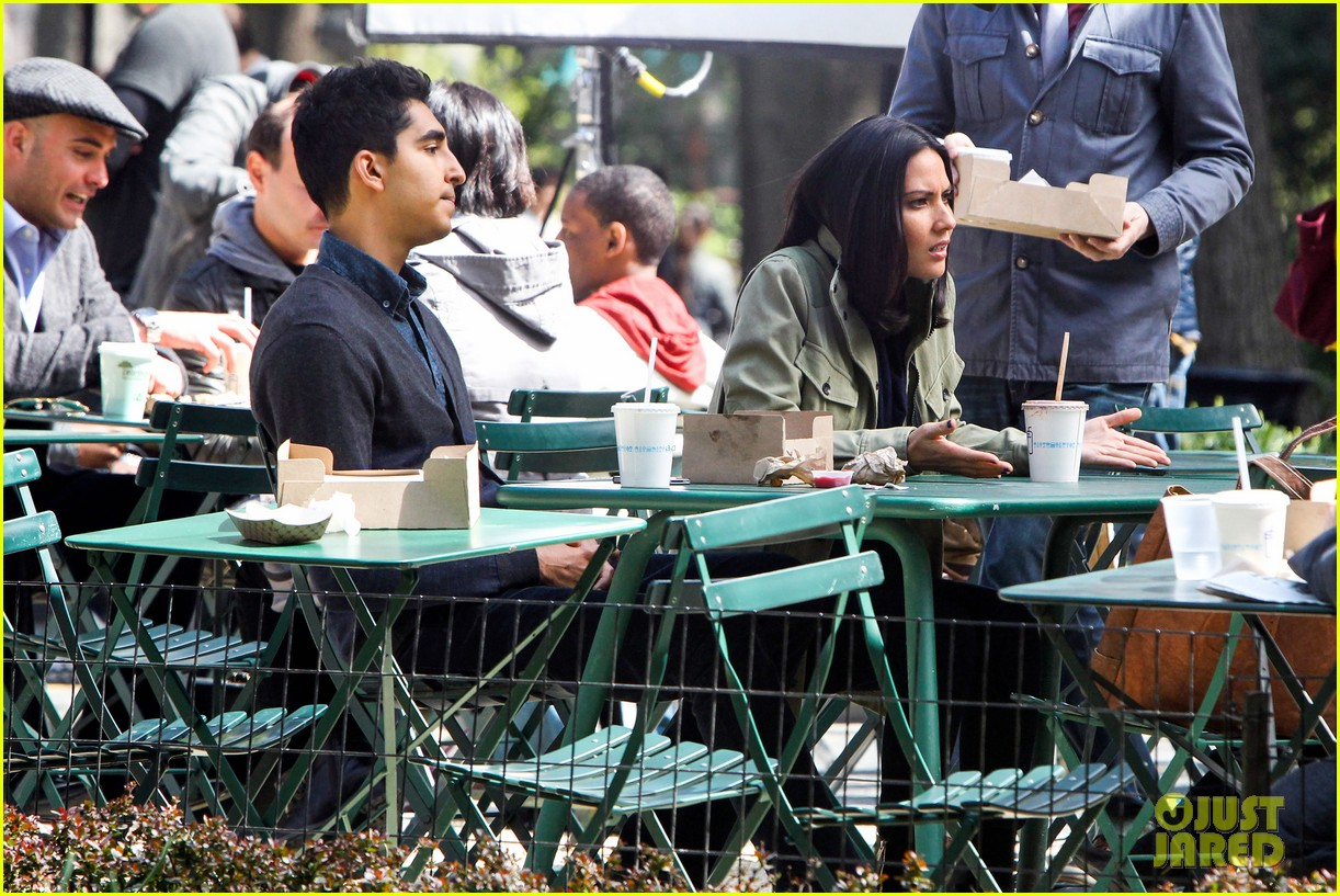olivia munn dev patel newsroom filming 12