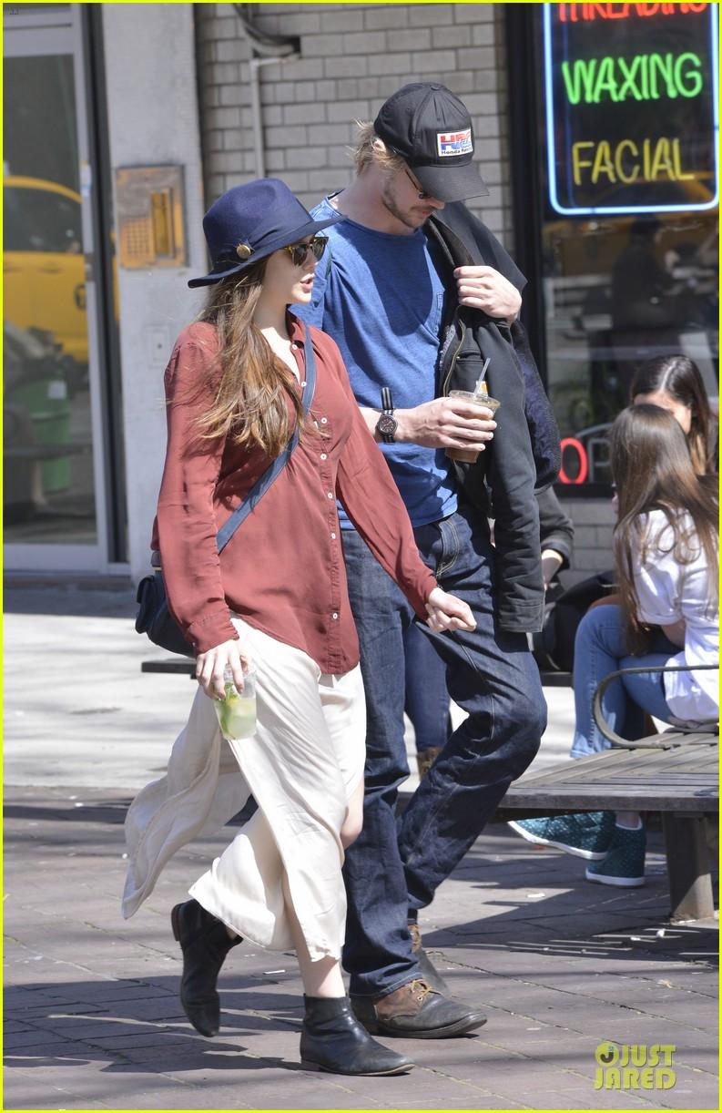 elizabeth olsen boyd holbrook soho strolling couple 232845886