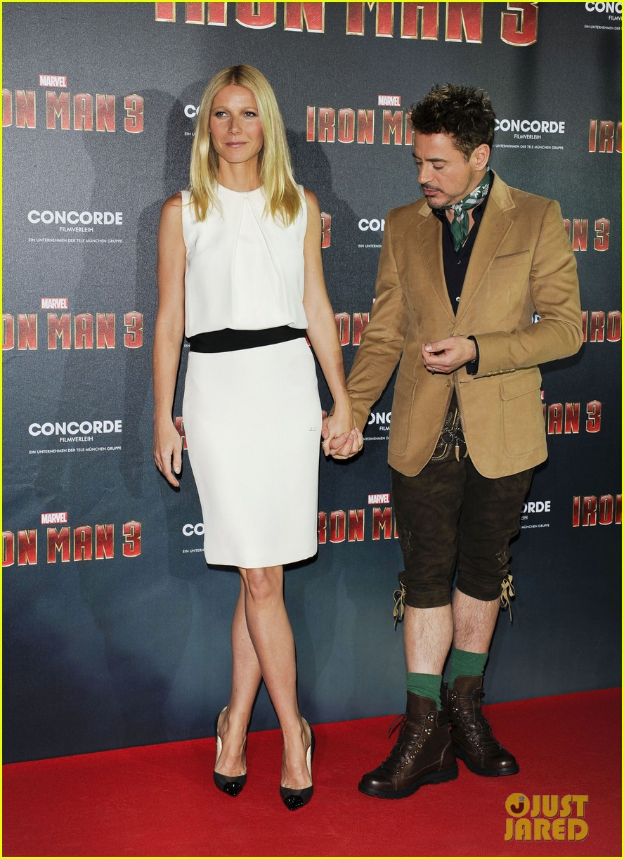 gwyneth paltrow robert downey jr iron man 3 germany photo call 262848170