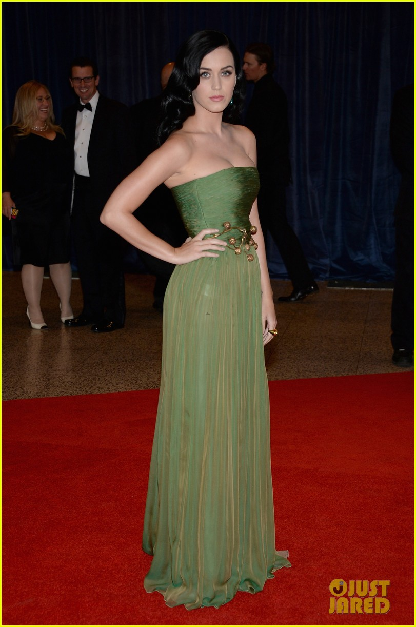 katy perry white house correspondents dinner 2013 red carpet 04