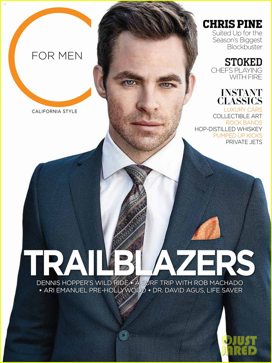 chris pine covers c for men magazine spring 2013 05